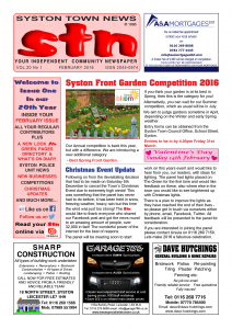 front page sample 2016
